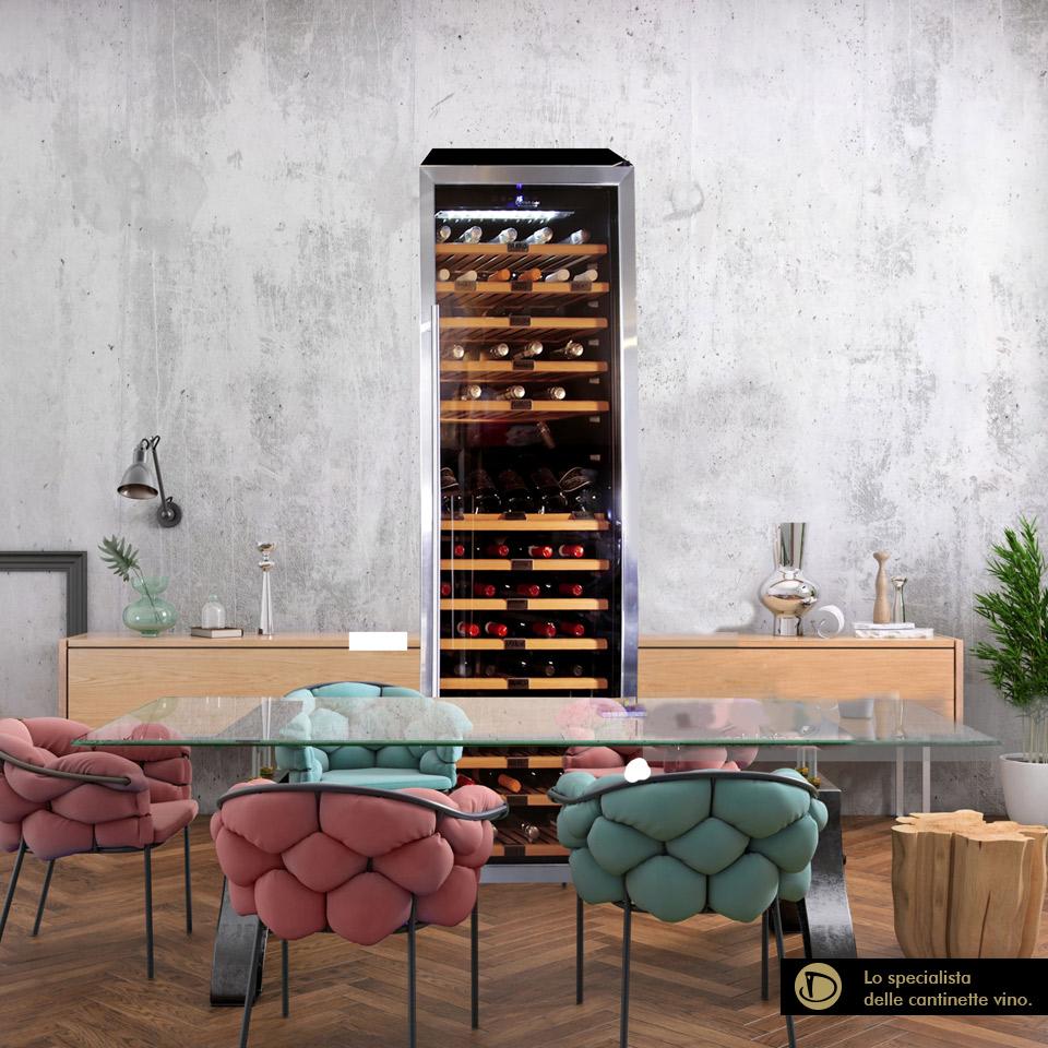 Cantinetta vino 170 bottiglie climatizzata compressore professionale