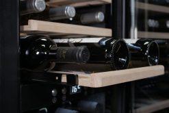 Wine cooler, 24 bottles, black