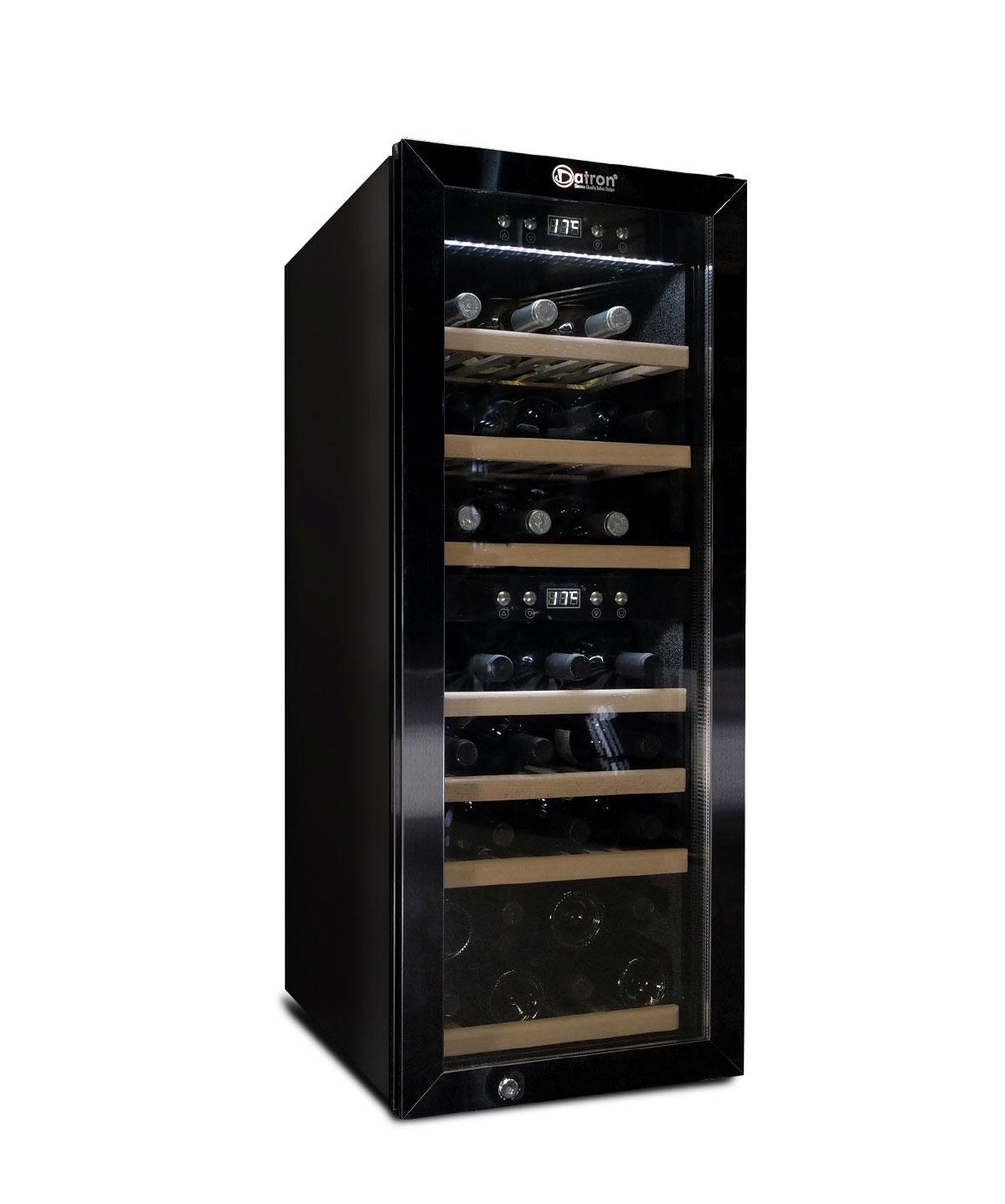 Dual Zone Wine cooler 38 bottles, black