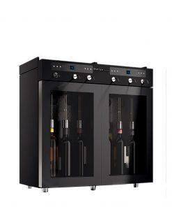 Dispenser vino 6 bottiglie Con 2 temperature impostabili