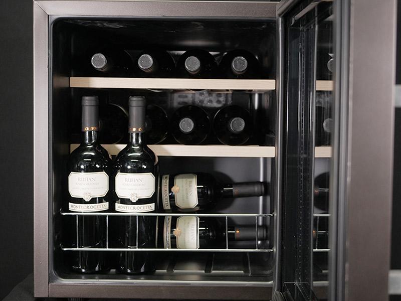 Cantinetta vino 15 bottiglie Personalizzata viola metallizzato
