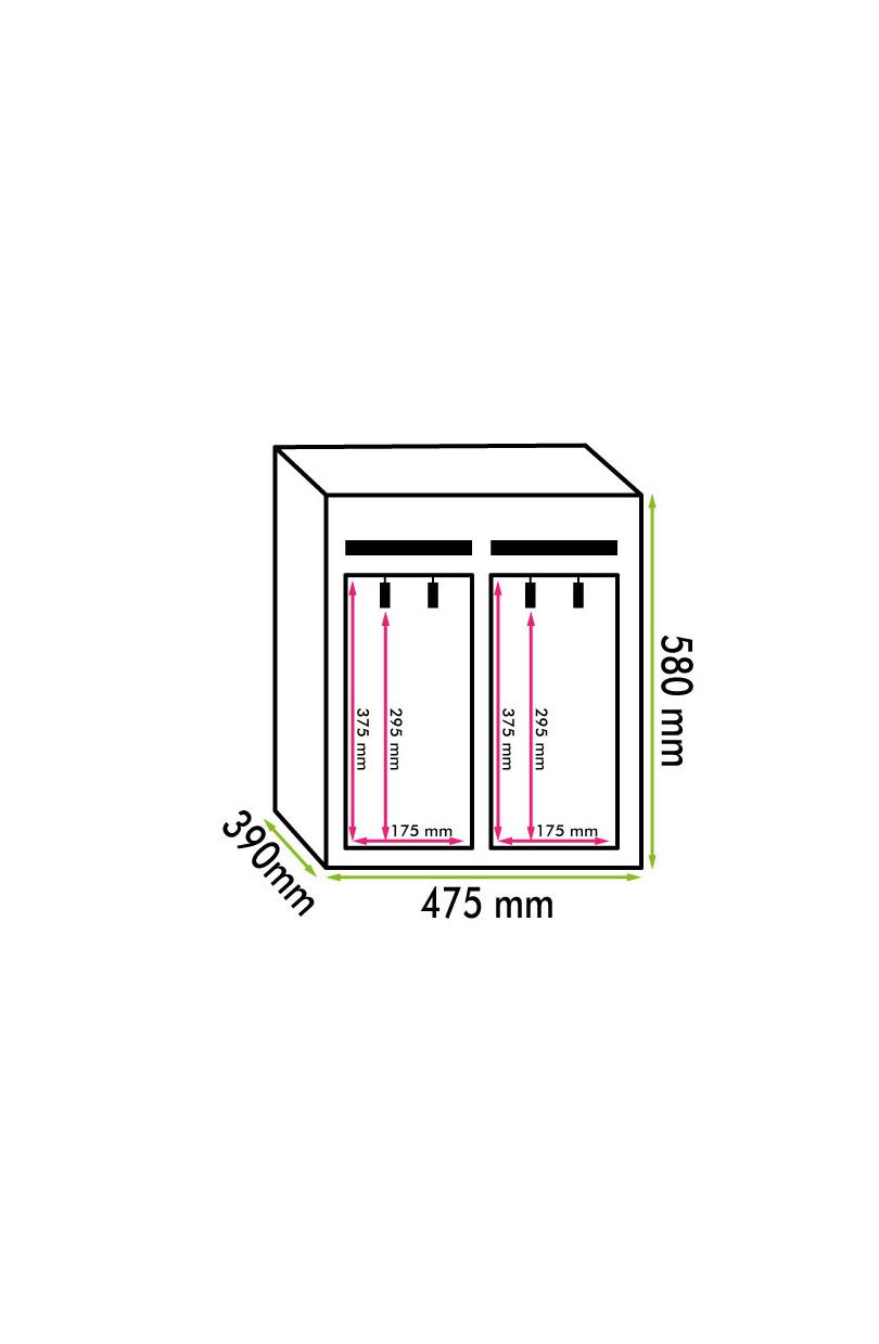 Dispenser vino 4 bottiglie (mis. 625x415x395 kg.40)