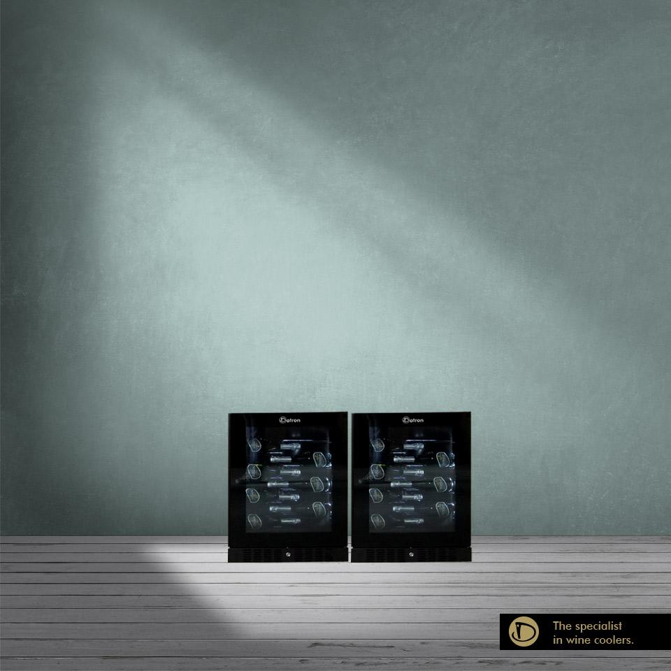 Armadio Cantina Luxury Show 80 bottiglie incasso e libera installazione