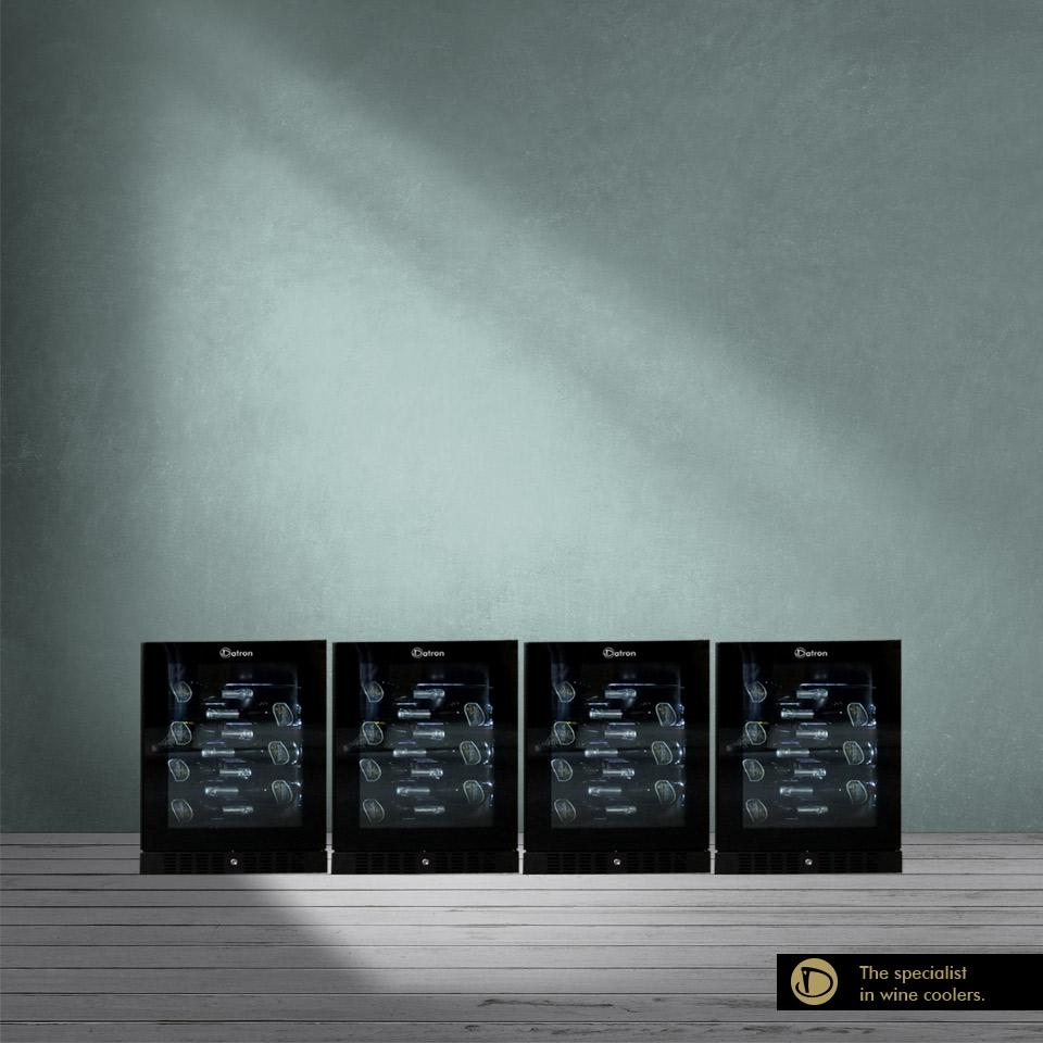 Armadio Cantina Luxury Show 160 bottiglie incasso e libera installazione