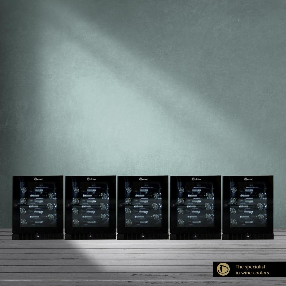 Armadio Cantina Luxury Show 200 bottiglie incasso e libera installazione