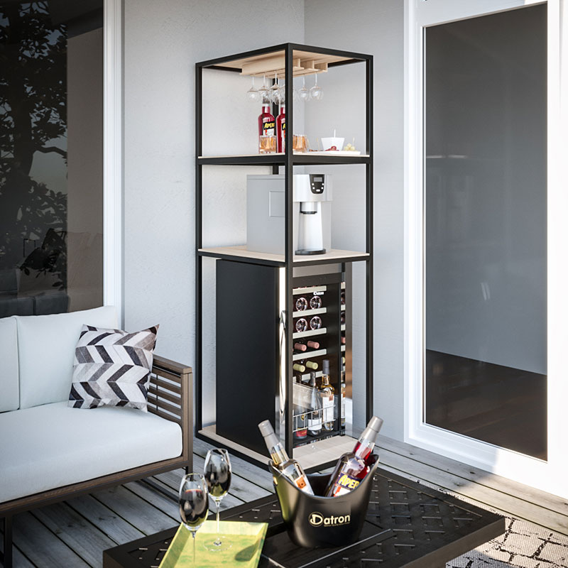 Scaffale personalizzato con porta calici per Cantinette di grandi dimensioni