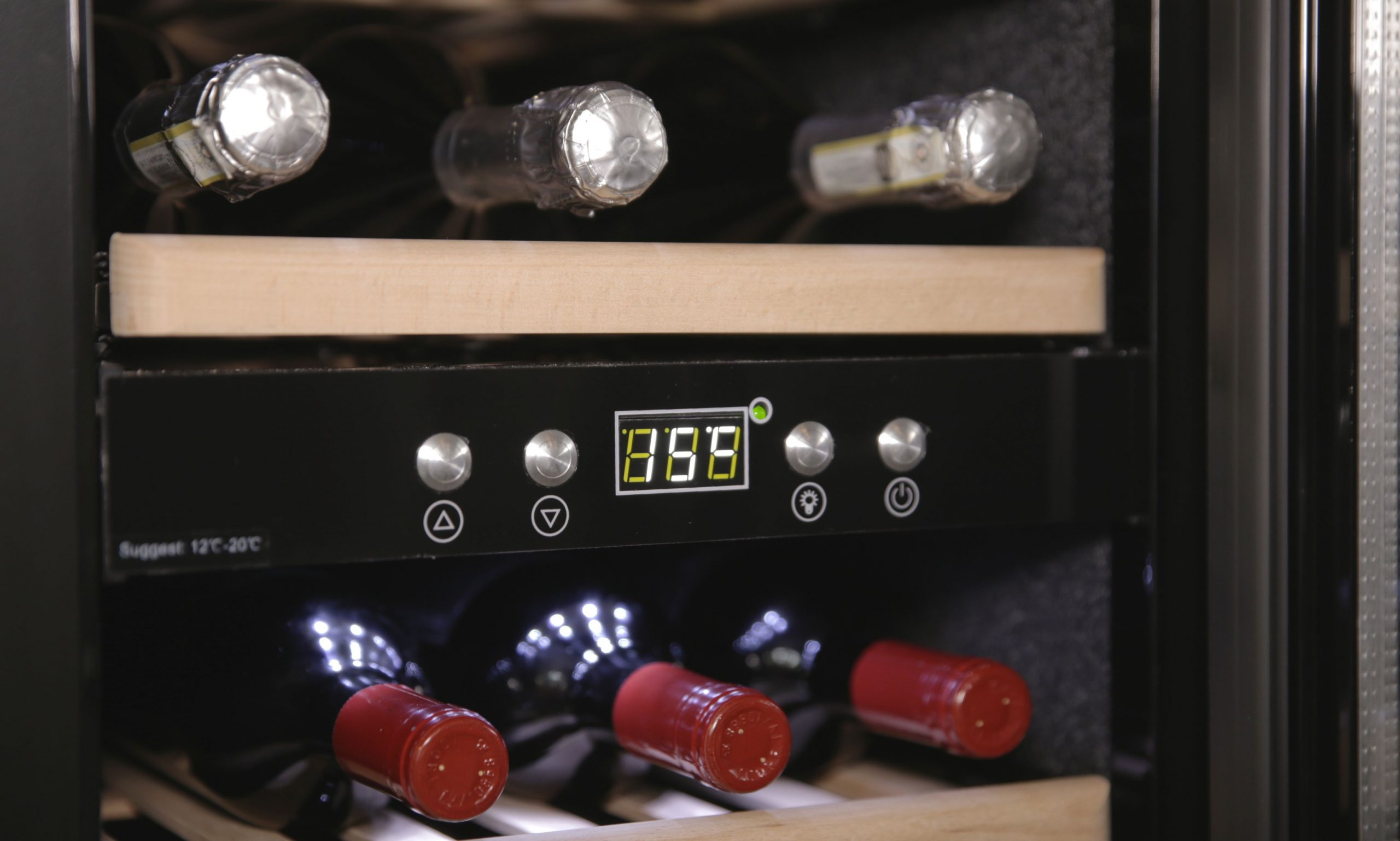 Cantinetta vino 38 bottiglie professionale temperata