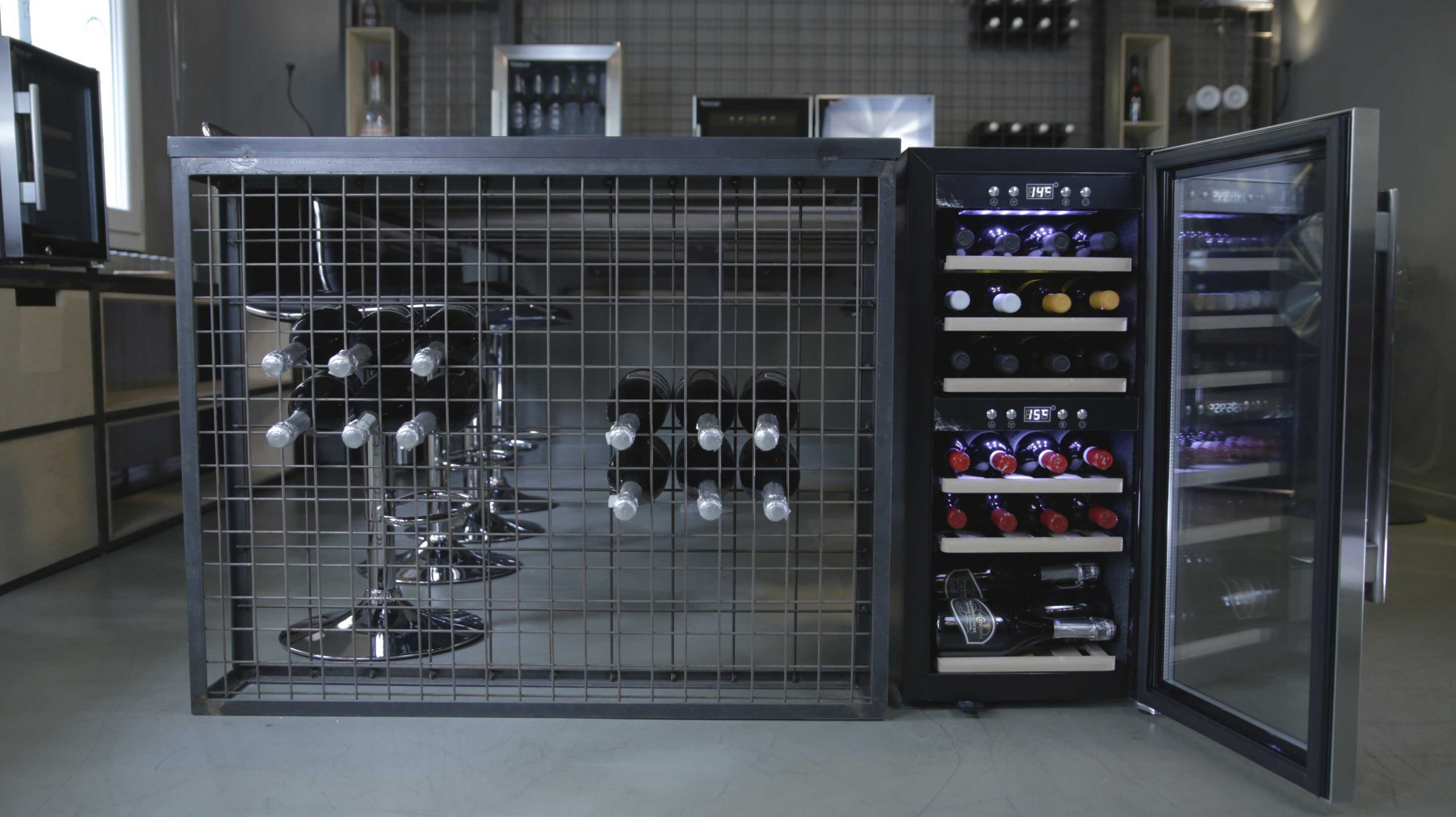 Weinkühlschrank für 24 Flaschen Kompressor
