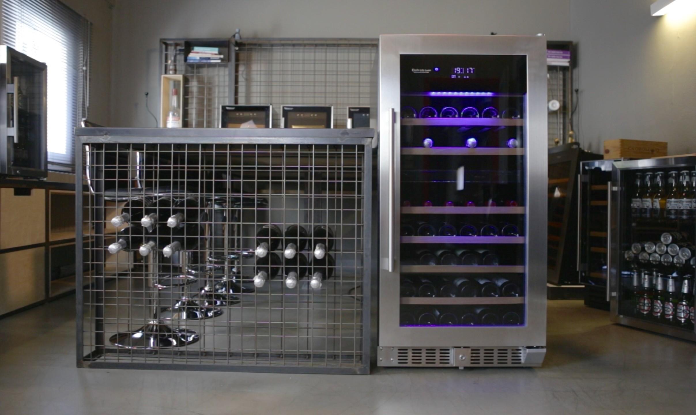 Cantinetta vino 94 bottiglie doppia temperatura CLIMATIZZATA PROFESSIONALE LINEA LUXURY (mis.1215x595x690 kg.70)