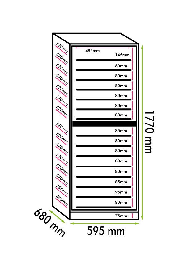 Cantinetta vino 166 bottiglie doppia temperatura climatizzata  ALTAMENTE PROFESSIONALE linea LUXURY (mis. 1770x595x690 kg.102)