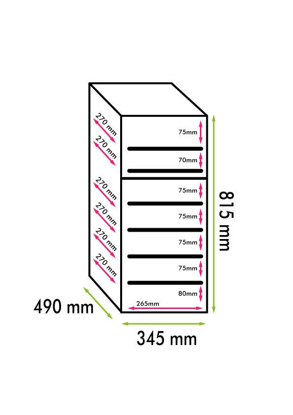 Cantinetta 21 bottiglie Doppia temperatura Elettrica (mis. 815x345x490, kg.19)