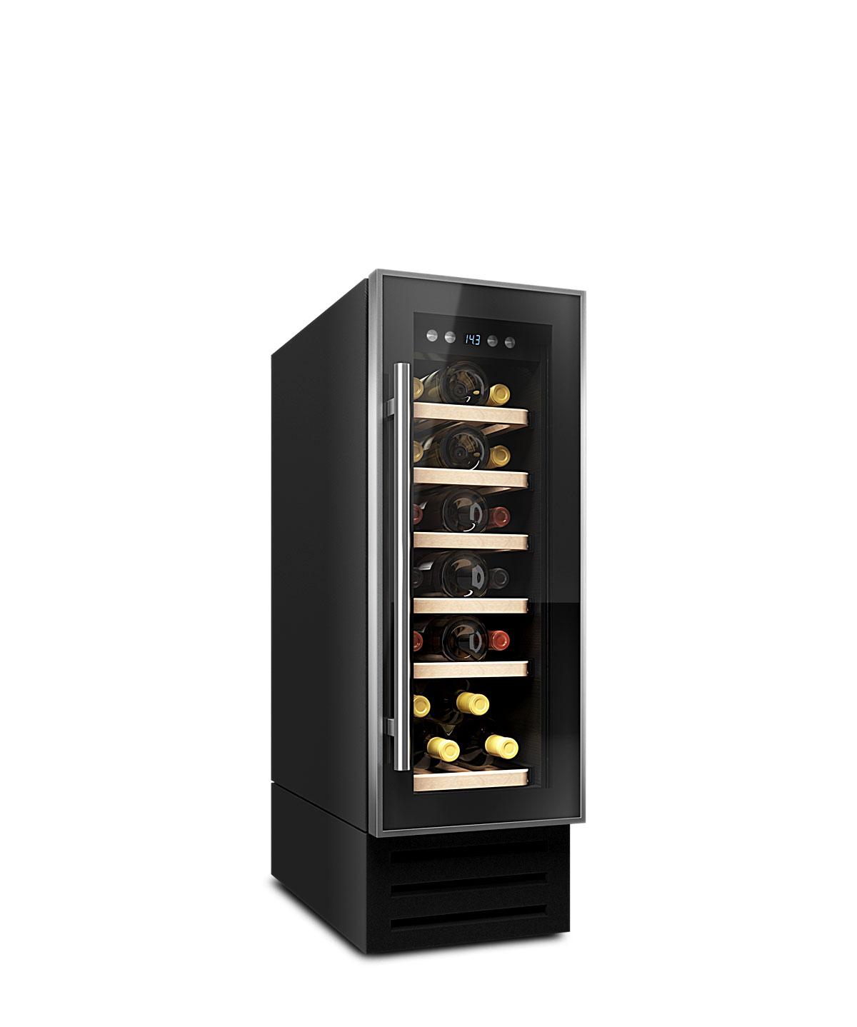 Weinkühlschrank 19 Flaschen, einbaufähig oder freistehend, Kompressor
