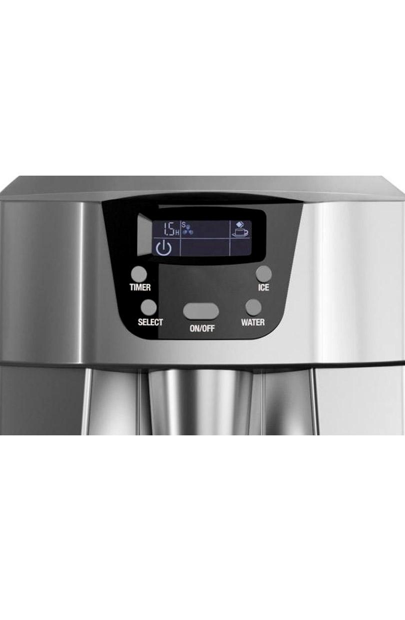 Macchina portatile del ghiaccio+dispenser acqua argento 12 Kg