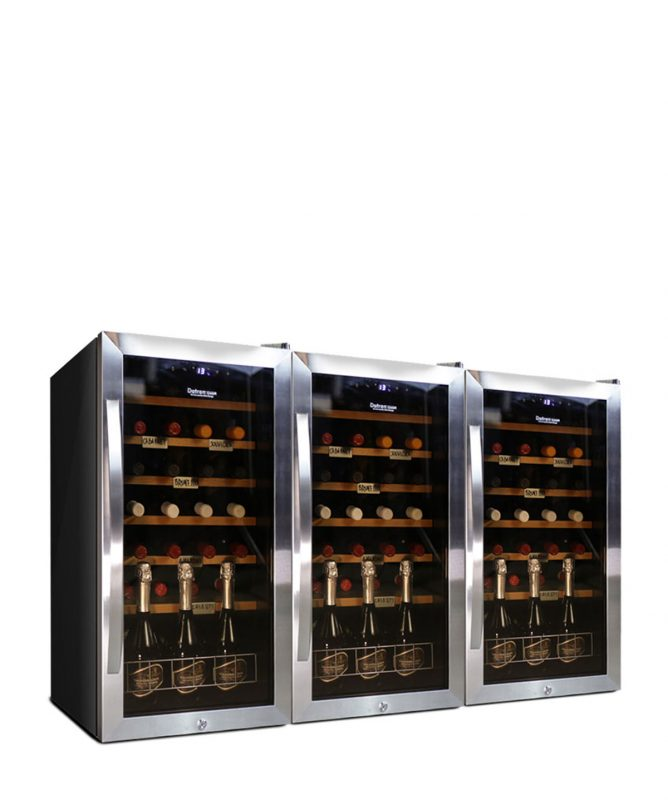 Large Wine Refrigerator 84 bottles compressor