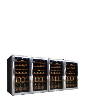 Weintemperierschrank 112 Flaschen, Kompressor
