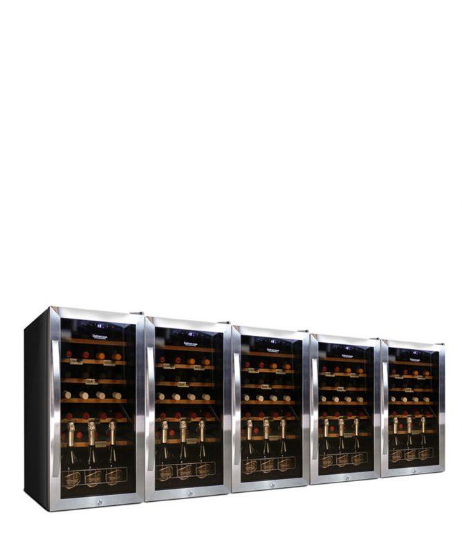 Weintemperierschrank 140 Flaschen, Kompressor