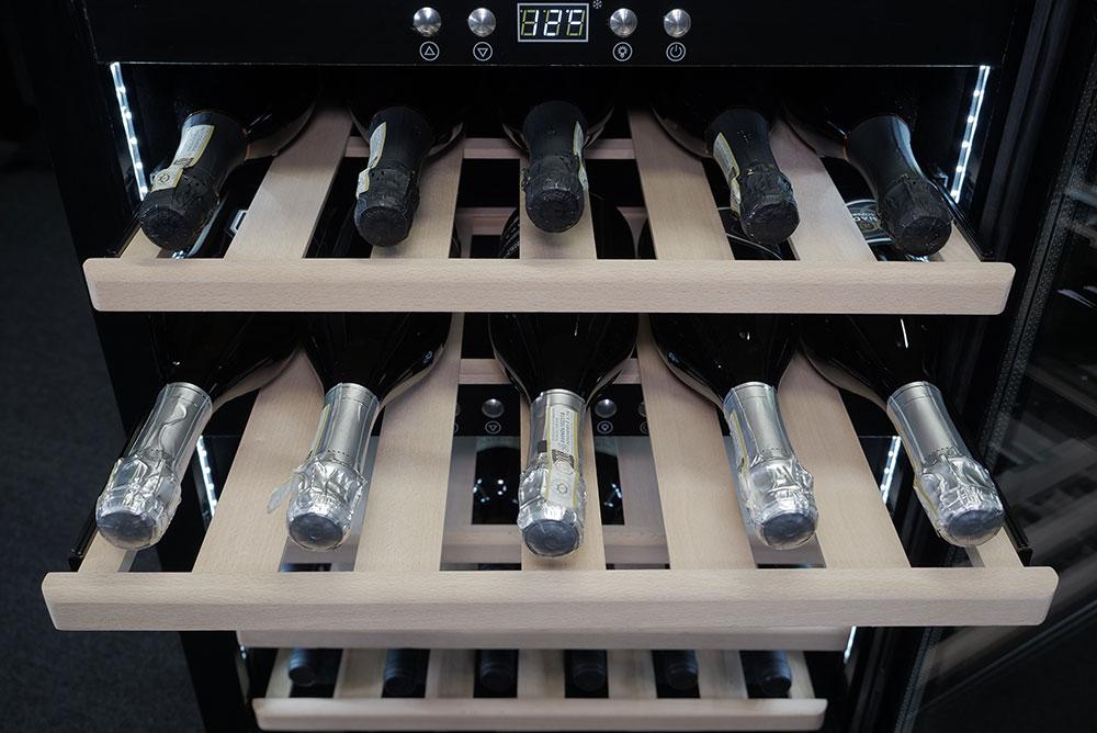 Wine Cooler 40 bottles dual temperature, black