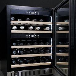 Weinkühlschrank 40 Flaschen, Schwarz