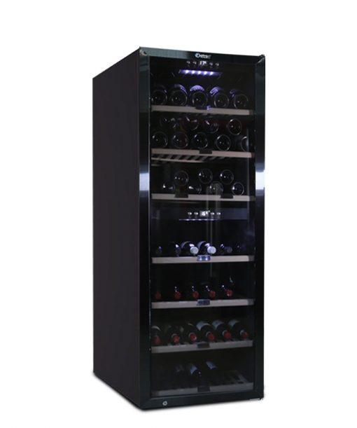 Cantinetta vino 126 bottiglie climatizzata professionale, black