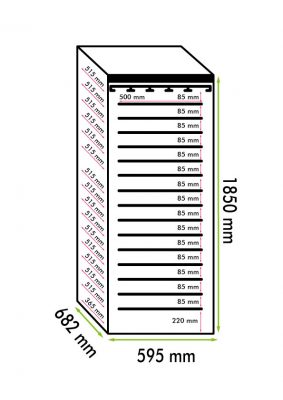 Professional air-conditioned 195 bottles Wine Refrigerator