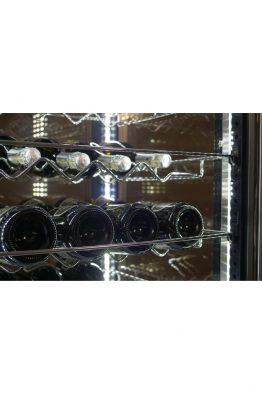 Weinkühlvitrine für 405 Flaschen mit 4 Glasseiten, gebogenes Glas