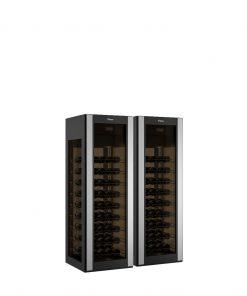 Weinkühlvitrine für 162 Flaschen mit 4 Glasseiten gebogenes Glas