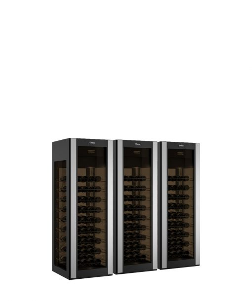 Refrigerated Wine Display 243 bottles, exposure on four sides, curved glass