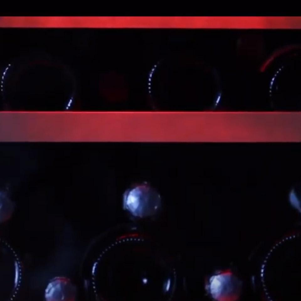 Weinkühlschrank 46 Flaschen, 2 Temperaturzonen, professionell, ledern, Produktlinie LUXURY