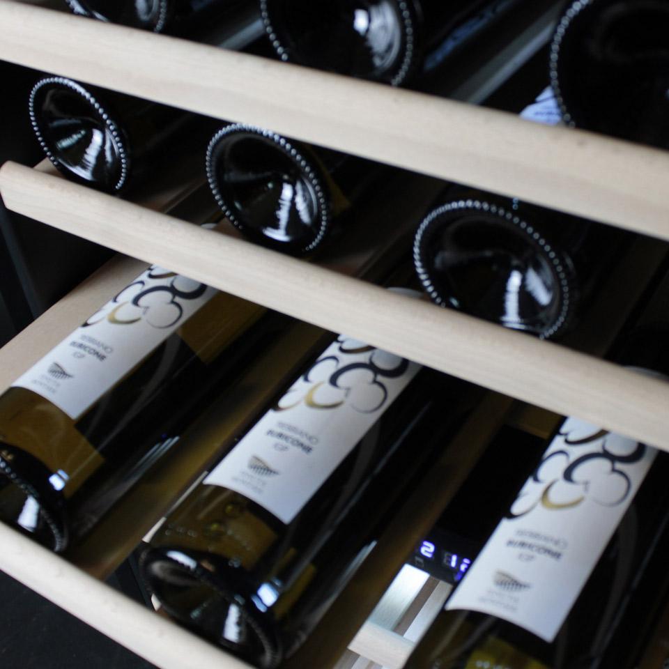 Weinkühlschrank 84 flaschen klimatisierte mit kompressor