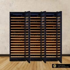 Double Door Wine Fridge 56 bottles compressor